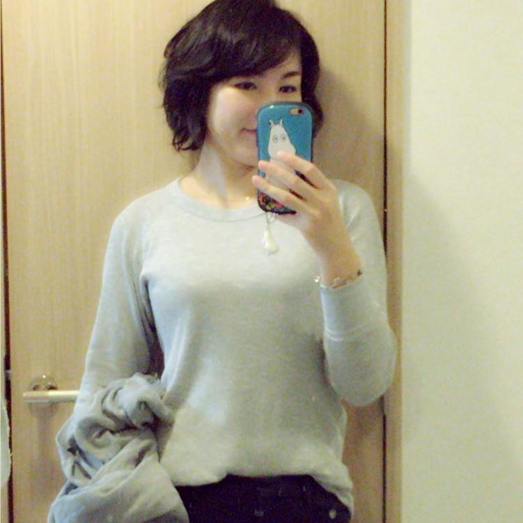 グレーを着る日な私の気分♪_1_1-1