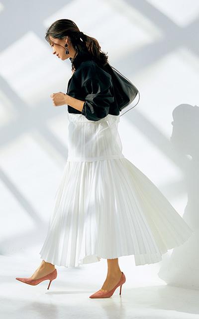 """春の始まりは""""プリーツ""""&""""ビビッド春色""""スカートで軽快に!【しゃらりんスカートで華やぎ】_1_1"""