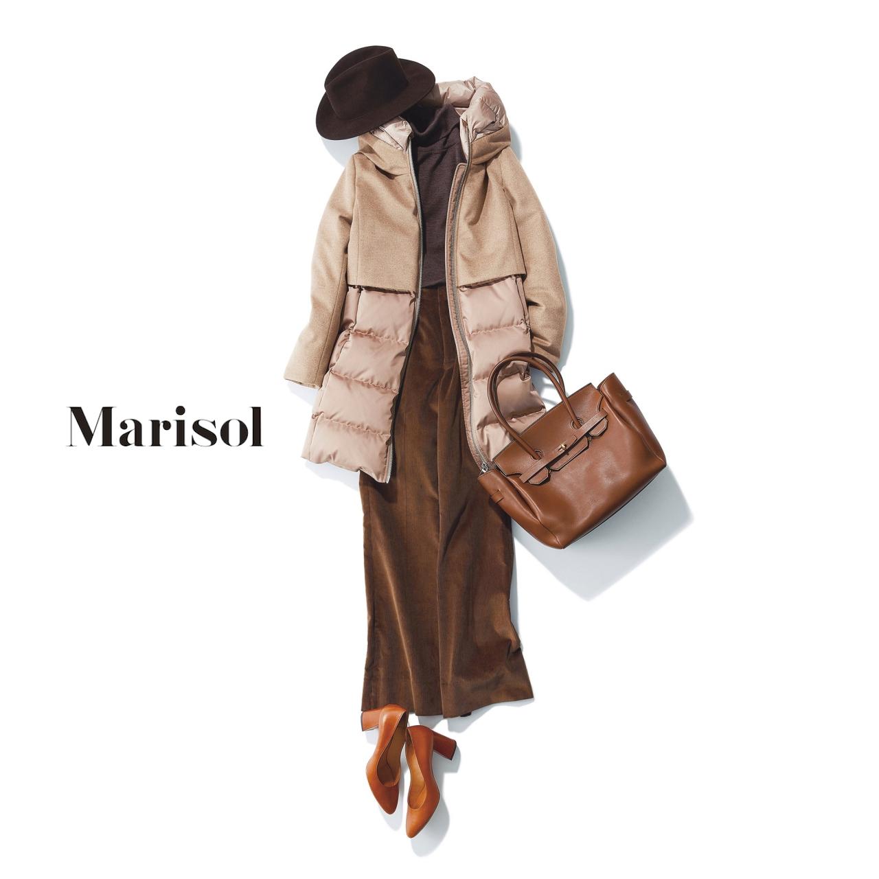 40代ファッション ダウンジャケット×コーデュロイパンツコーデ