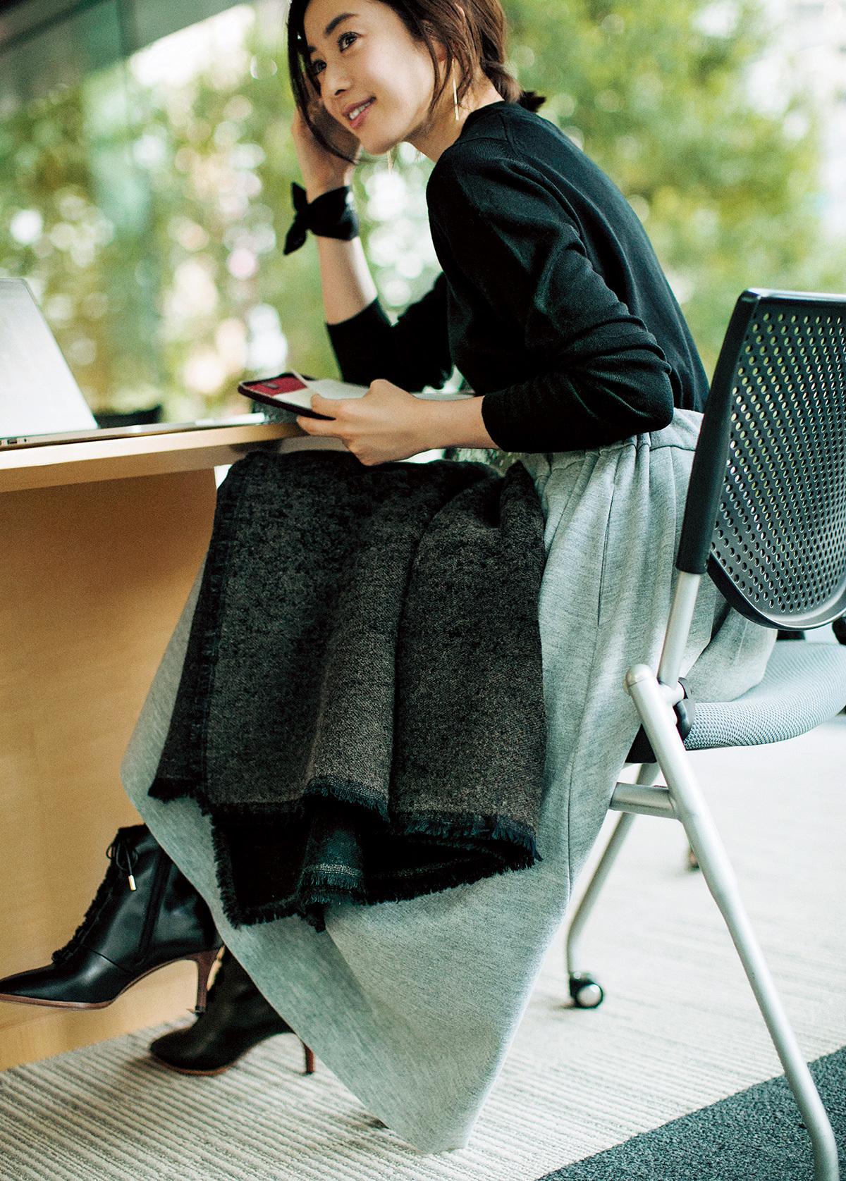 オフィスで防寒しつつ、キレイ見えなアイテム_1_1