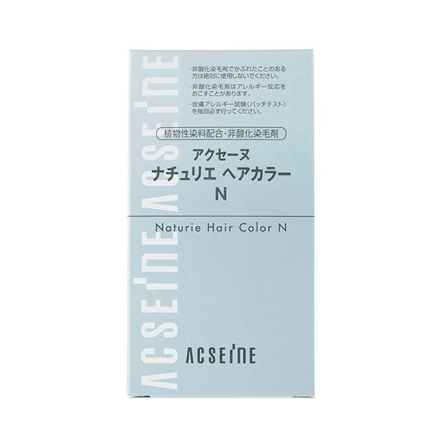 アクセーヌ ナチュリエ ヘアカラーN 1剤80g、2剤80g 全1色(医薬部外品)¥1,300/アクセーヌ