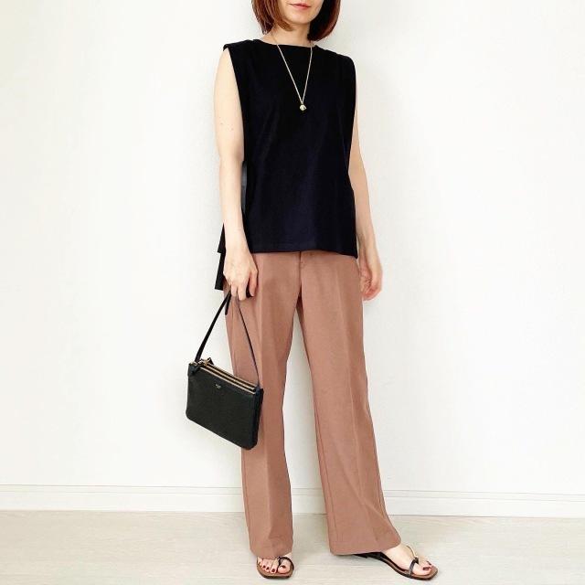 夏のブラウンで品よくこなれる! 大人のプチプラ高見えも叶えるブラウンコーデまとめ 40代ファッション_1_21