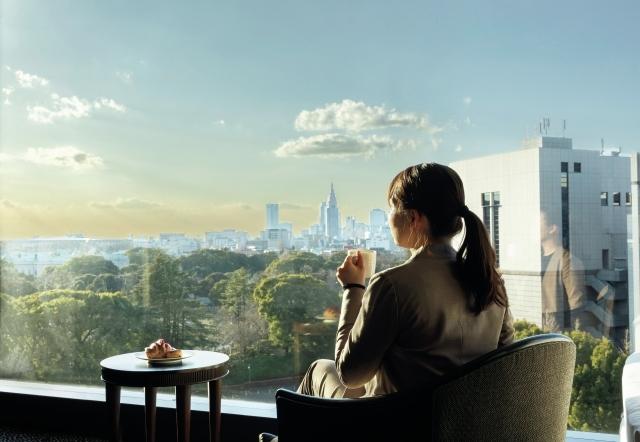 『ホテルニューオータニ』眺望とともに朝食を