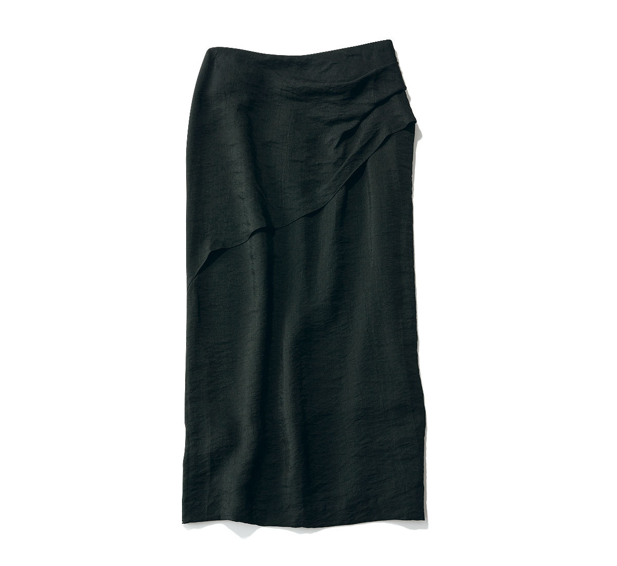 きれいめ好きの買うべきツヤ素材のナロースカート_3