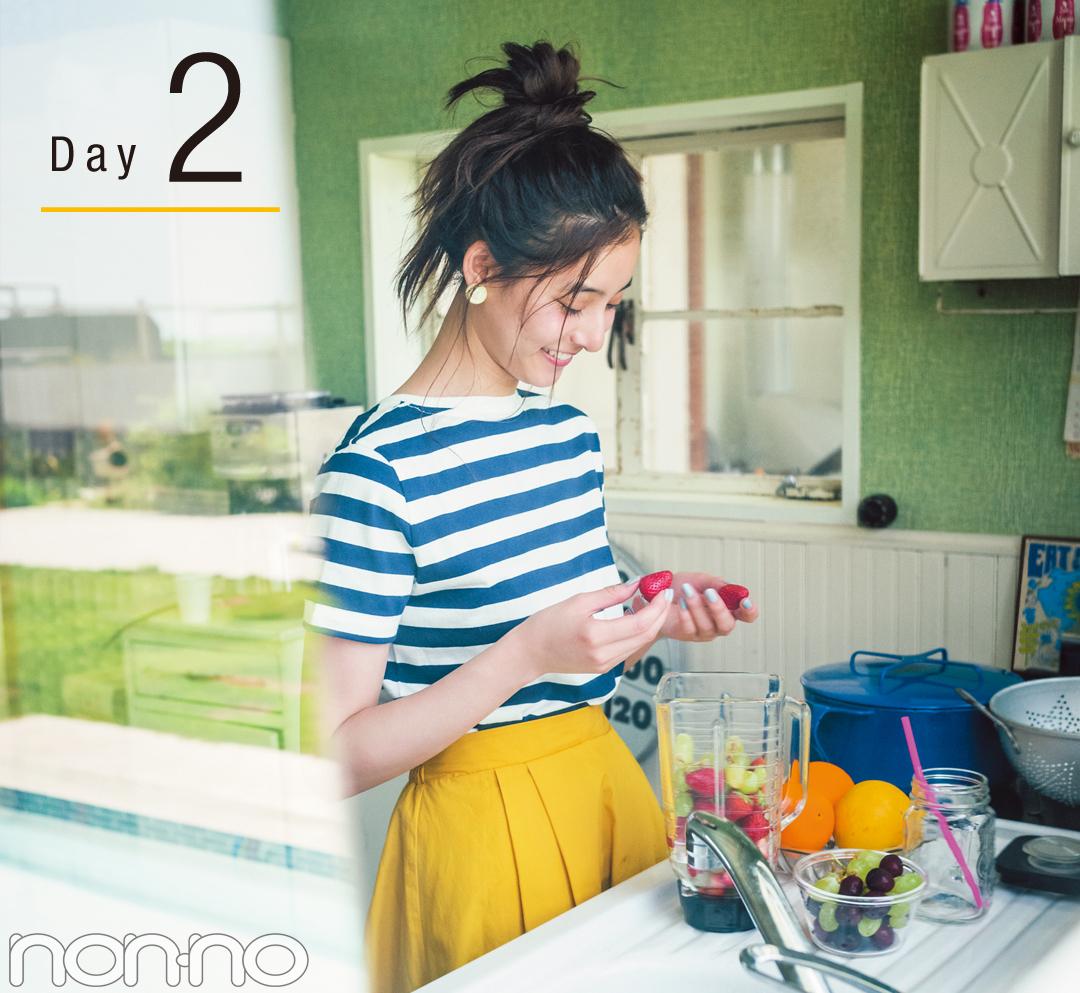 新木優子のきれい色揺れスカート着回し♡ ¥4250で最高おしゃれな4Days!_1_2-2