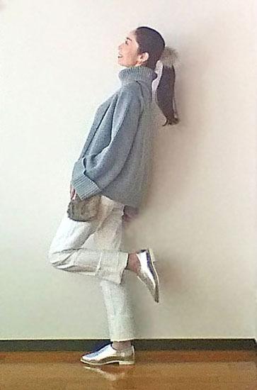 デザインニット+定番ジーンズ+ちょい派手靴で簡単コーディネート_1_3