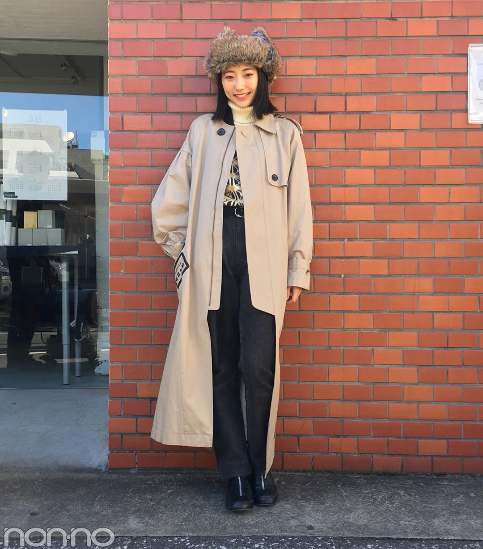 武田玲奈の冬コーデはアウラのコートにフライトキャップを合わせて【モデルの私服スナップ】_1_1