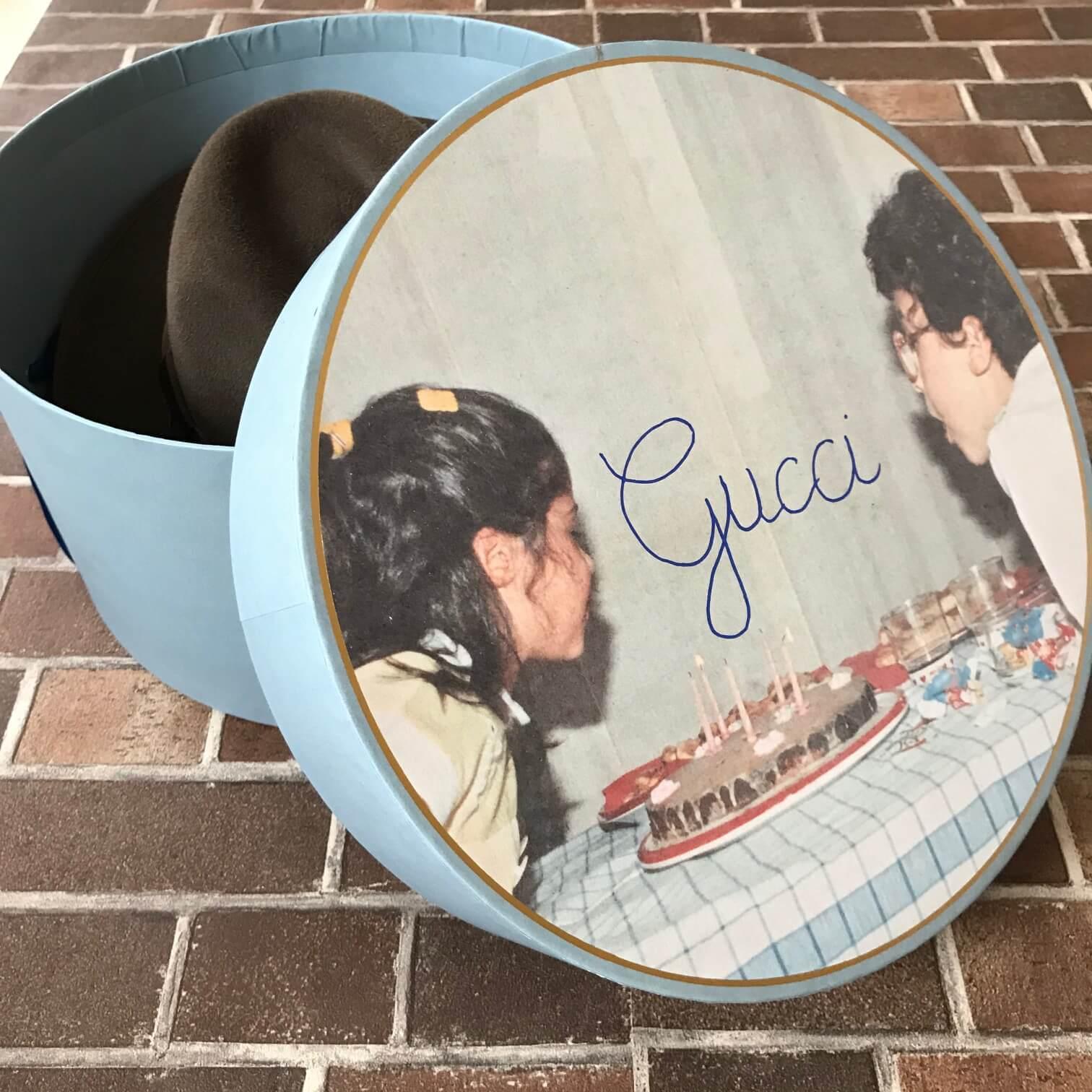 グッチの帽子の箱画像