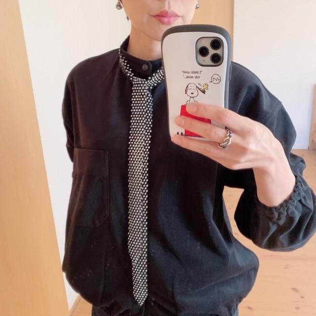MUJI LABOの起毛ドロップショルダースタンドカラーシャツが使えます♡_1_4-1