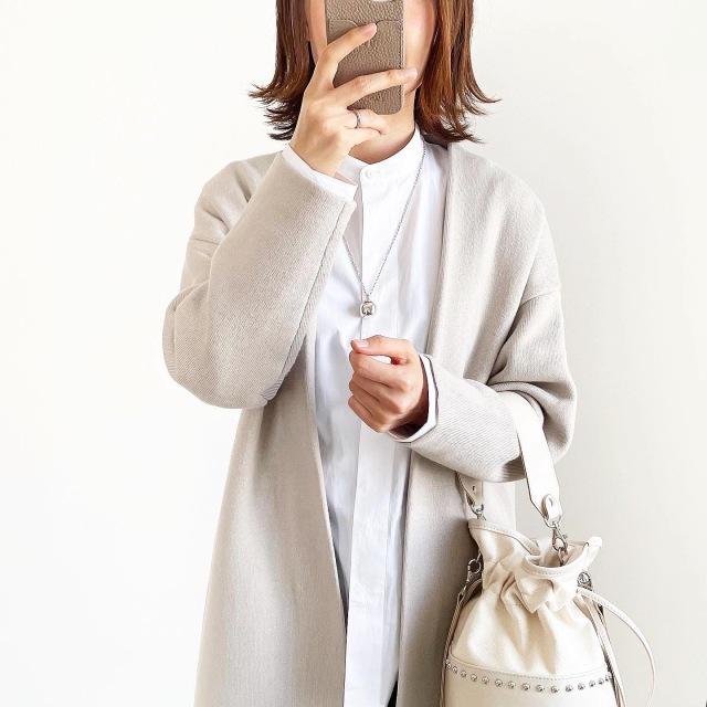 『UNIQLO+J』スタンドカラーシャツ着回し【tomomiyuコーデ】_1_1