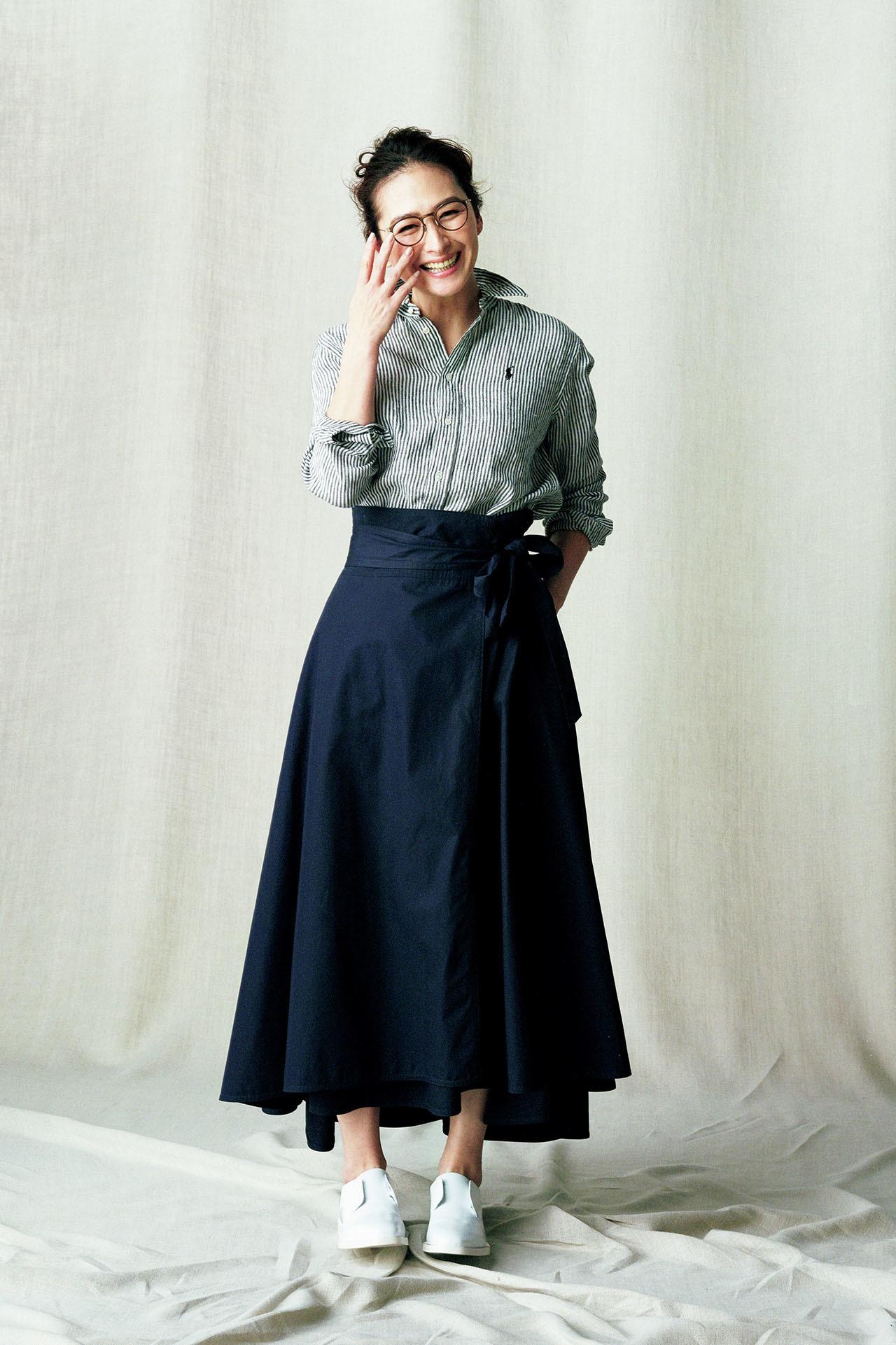 表情豊かな極上の素材。亜希、きれいに「麻」を着る 五選_1_1-5