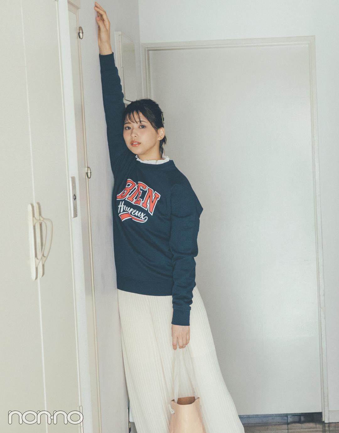 渡邉理佐の「ちょこっと赤」コーデ3選♡ 春の始まりにぴったり!_1_3-2