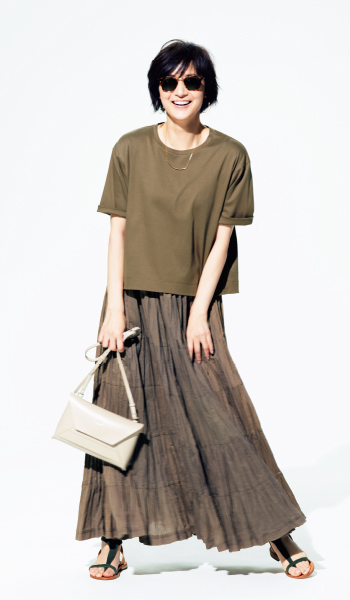 女らしさと高見えが叶う「富岡Tシャツ」で夏のおしゃれを楽しむ!_1_1-2
