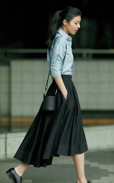 ボリュームスカート 黒 マディソンブルー