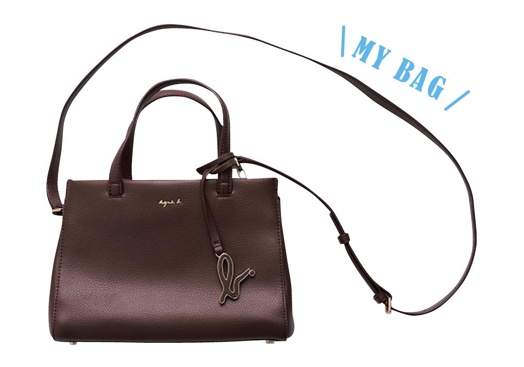 貴島明日香のアニエスベーのバッグ