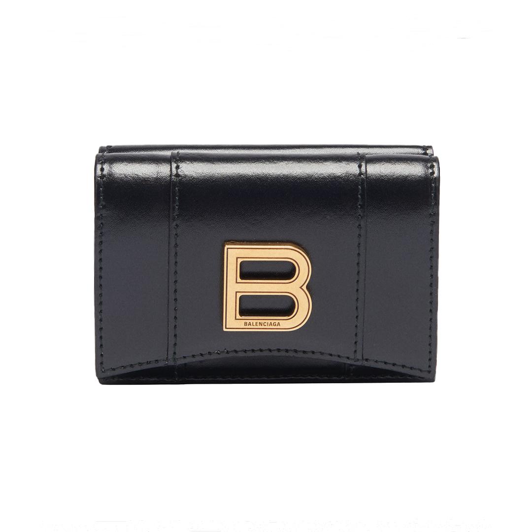 三つ折り財布「アワーグラス ミニ ウォレット」¥55000/バレンシアガ クライアントサービス(バレンシアガ)