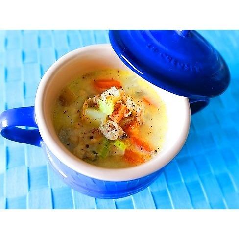 具だくさんあさり豆乳スープで、翌朝スッキリむくみ解消!_1_1