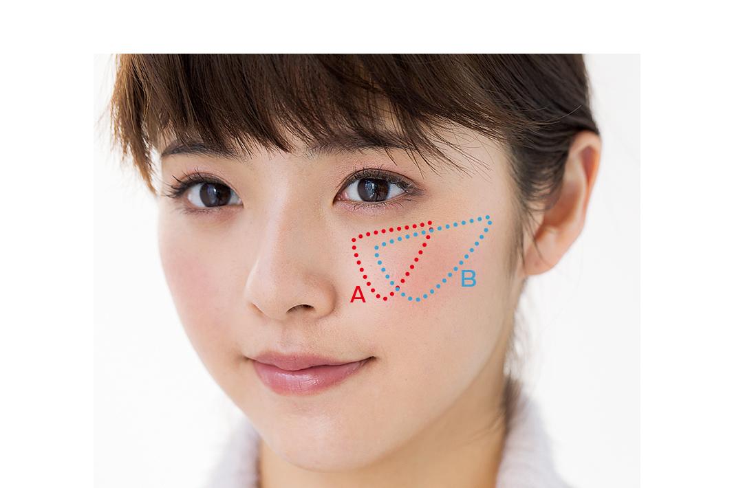 「三角塗り」で子供っぽさ回避! 基本のピンクチーク、コレが正解!_1_6
