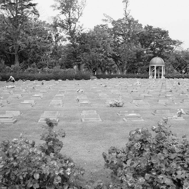 「芝生型」はA3用紙くらいの大きさの四角いプレートが墓標