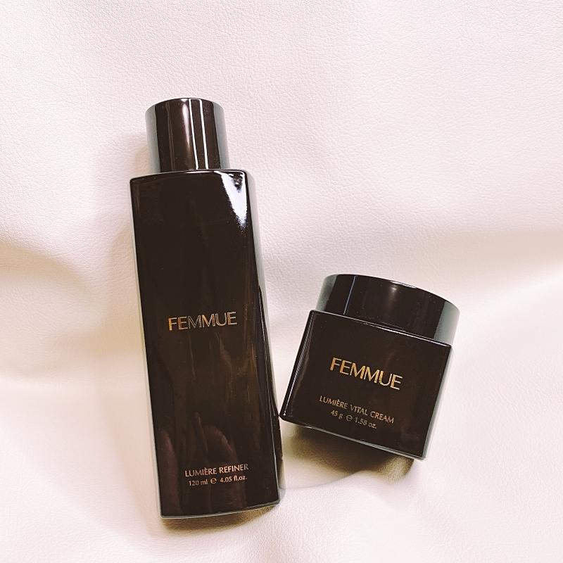 FEMMUNEの人気美容液のパフォーマンスをさらに引き上げる化粧水のファミュルミエールリファイナーとファミュルミエールヴァイタルクリーム