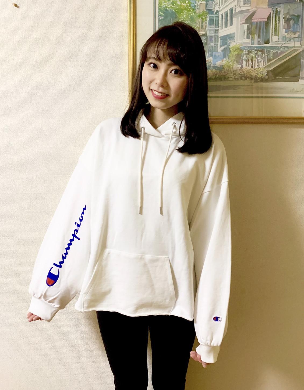 江野沢愛美さんがオススメするChampionの白パーカー買っちゃいました。_1_3