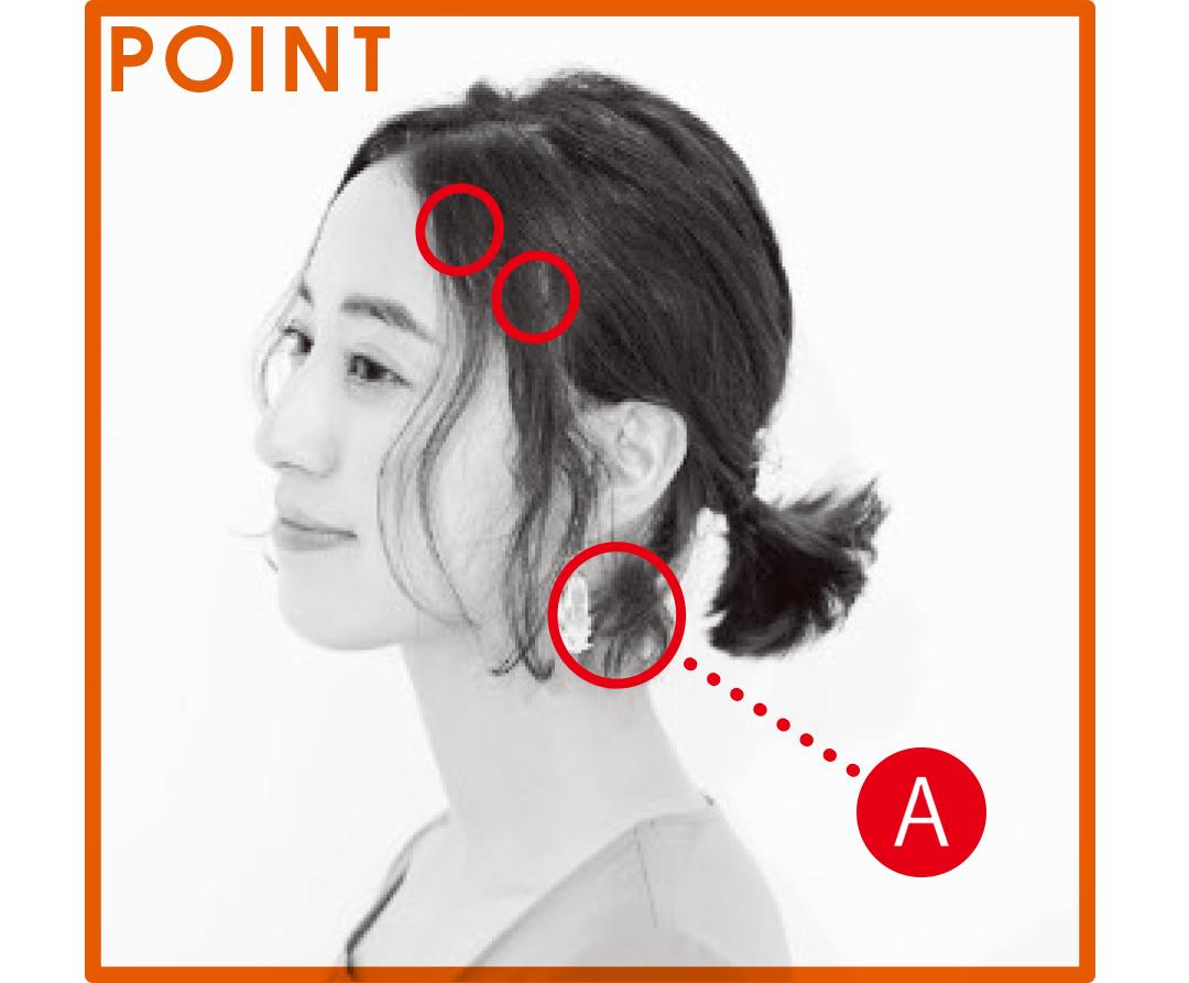 前髪ナシさんのスタイリングポイント