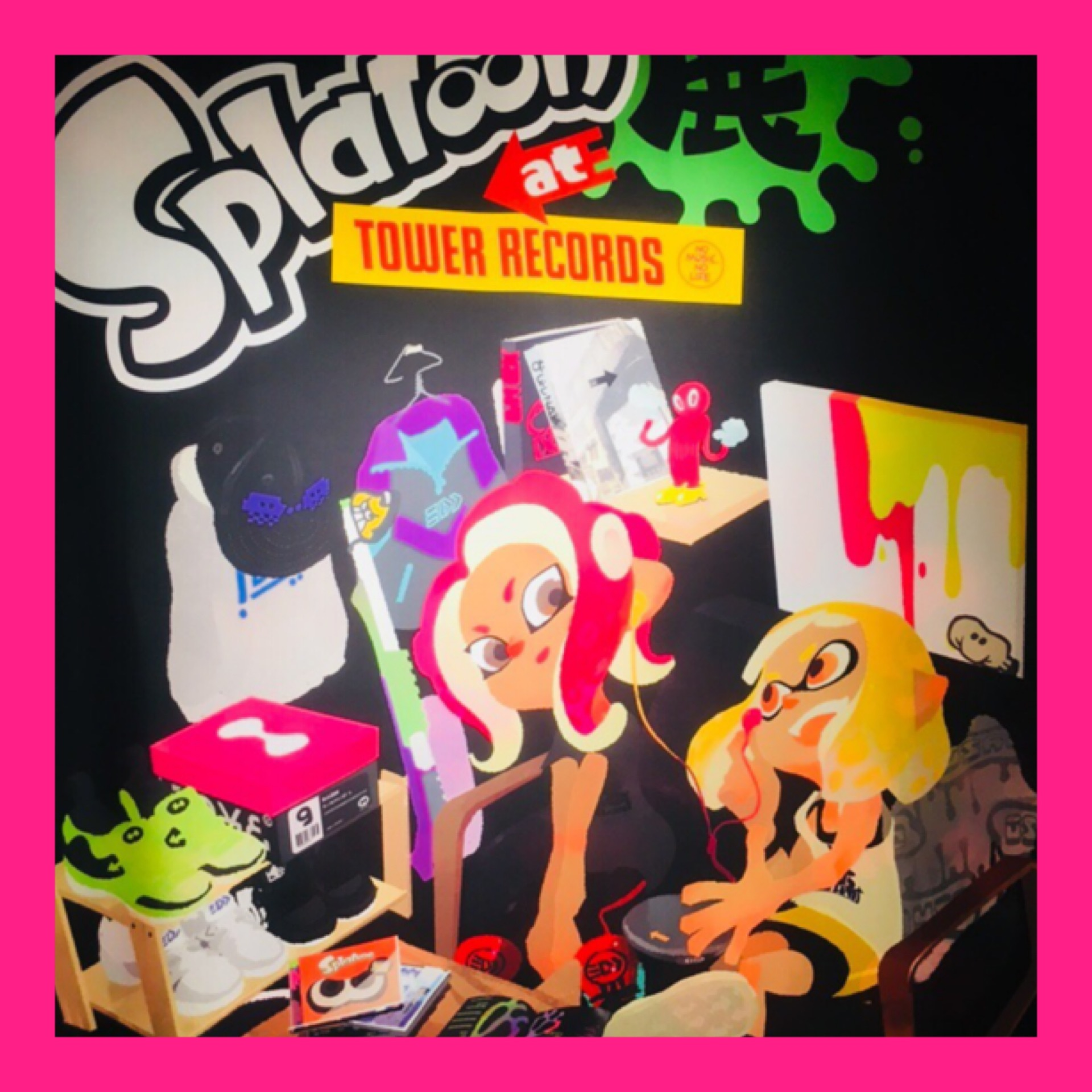 【Splatoon展】Shibuyaタワレコに行ってきました♡_1_1-2
