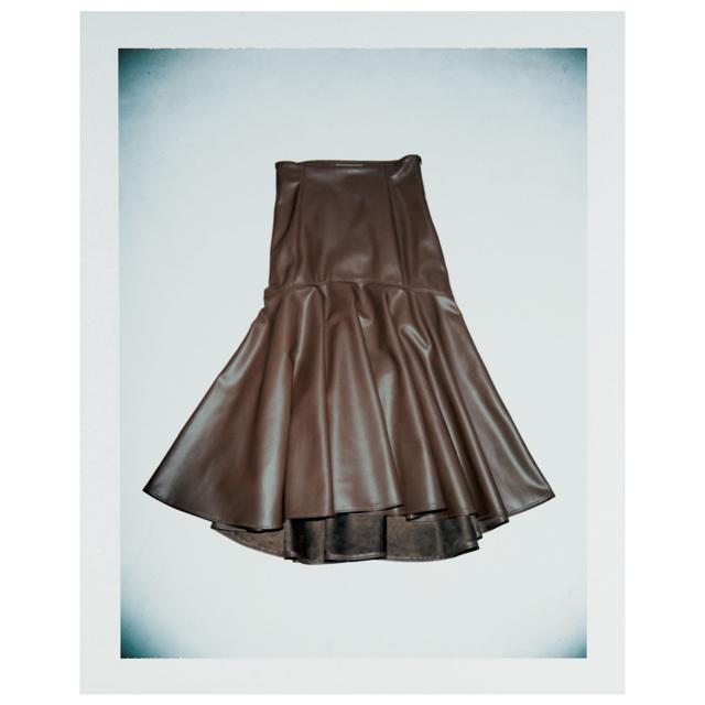 ラシュモンのレザースカート
