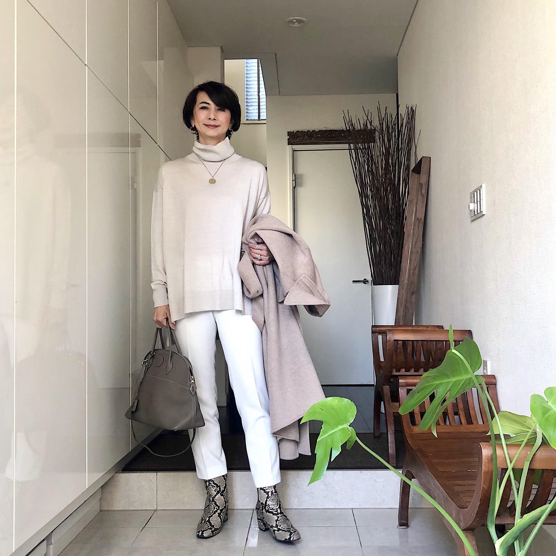 パイソンブーツを合わせたコーデ 華組 近藤和子さん