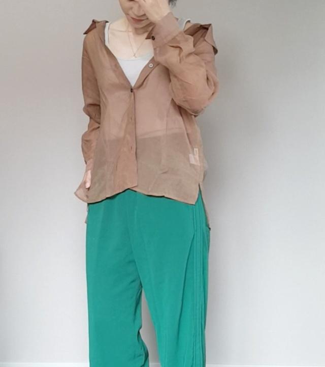 アラフォーが着るシアー素材。私は色で選ぶ!_1_4-3