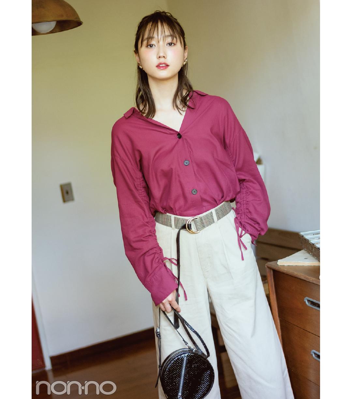 馬場ふみか&鈴木友菜の秋は、ゆるく着こなす女っぽシャツ!_1_2-3
