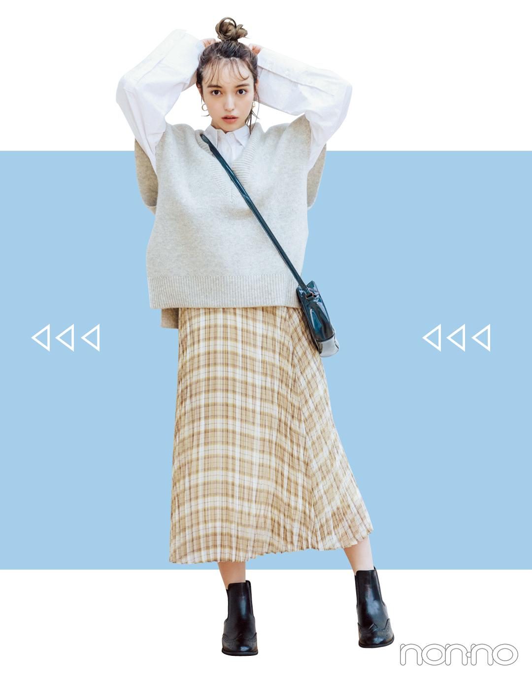 2019秋トレンド★ 今買うプリーツスカート、10月まで着回せるのはコレ!_1_3-3