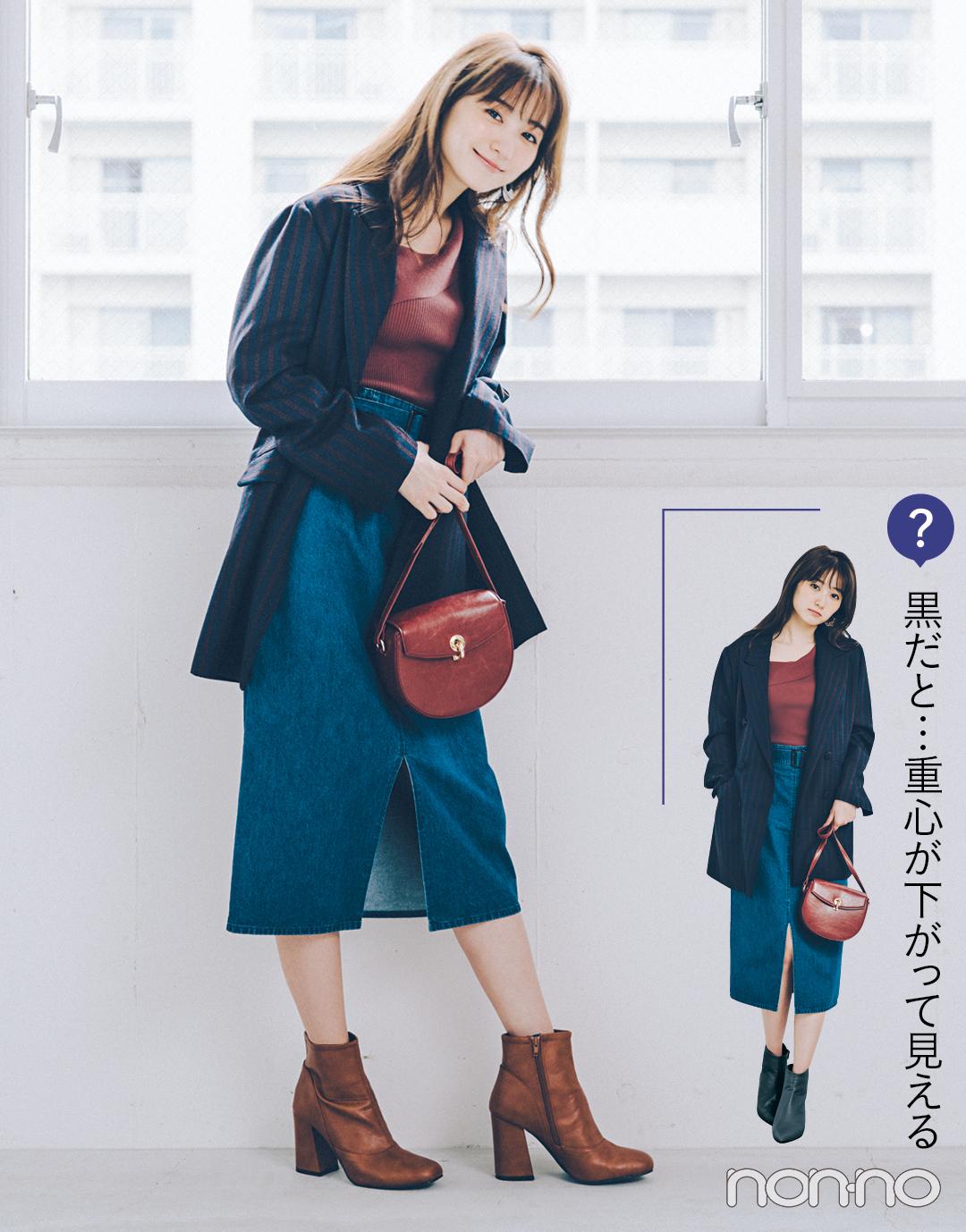 2019秋トレンド★ ショートブーツはベージュ&ブラウンでバランスアップが正解!_1_3