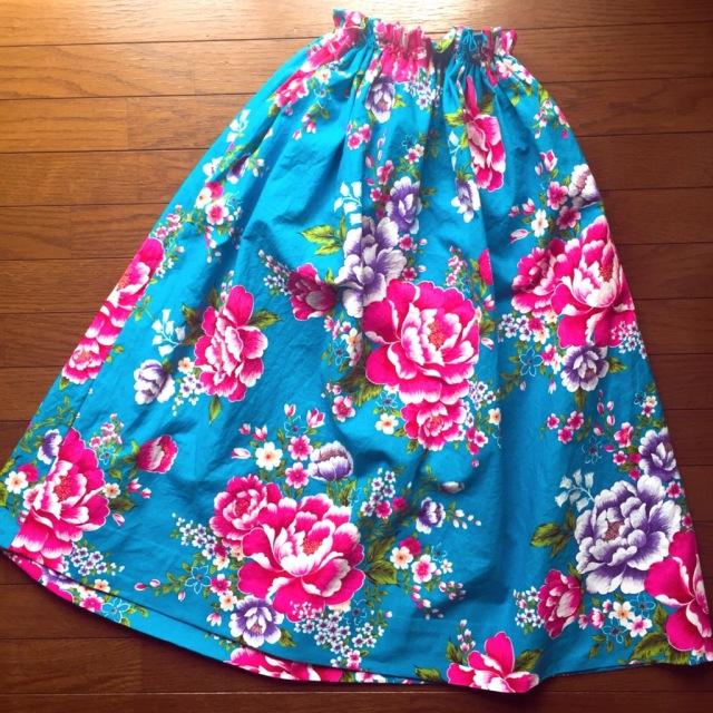 簡単!可愛い!『客家花布』のフレアスカートを作ってみた_1_3