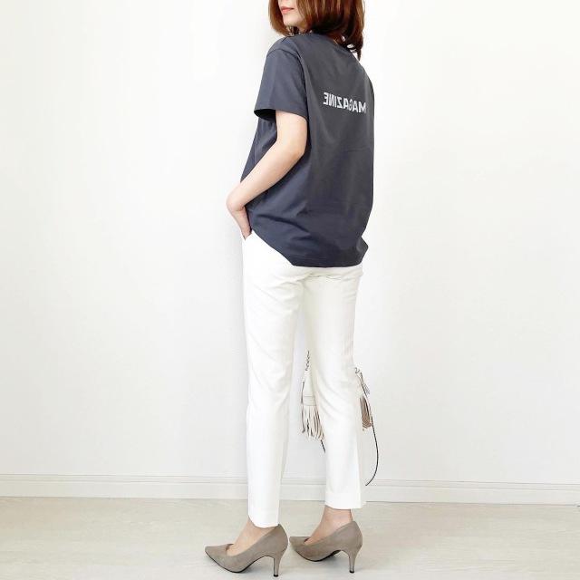 別注!限定ロゴTシャツで春先取りスタイル【tomomiyuコーデ】_1_6