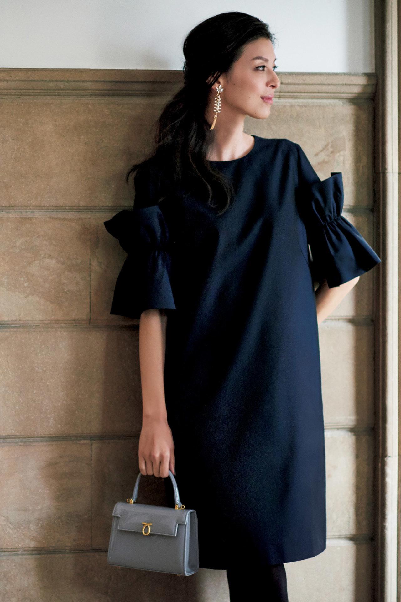 品のあるフェミニンワンピースで、好感度の高い同窓会ファッションに 五選_1_1-1