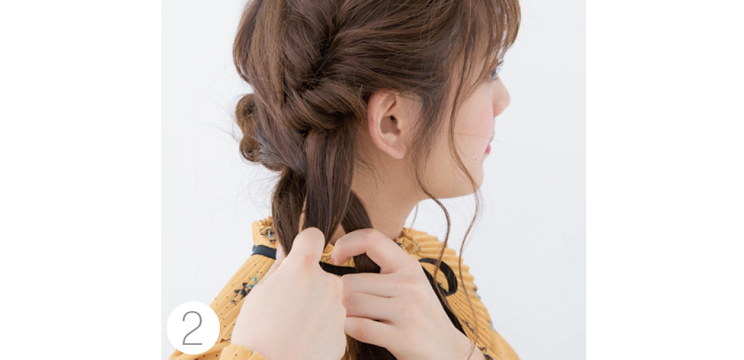 クリパのときのヘアアレンジ★ロングならくるりんぱと三つ編みが簡単!_1_4-3
