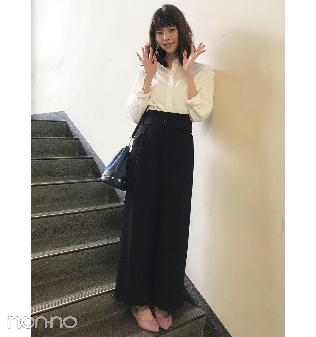 鈴木優華の大人っぽシャツコーデ【毎日コーデ】_1_1