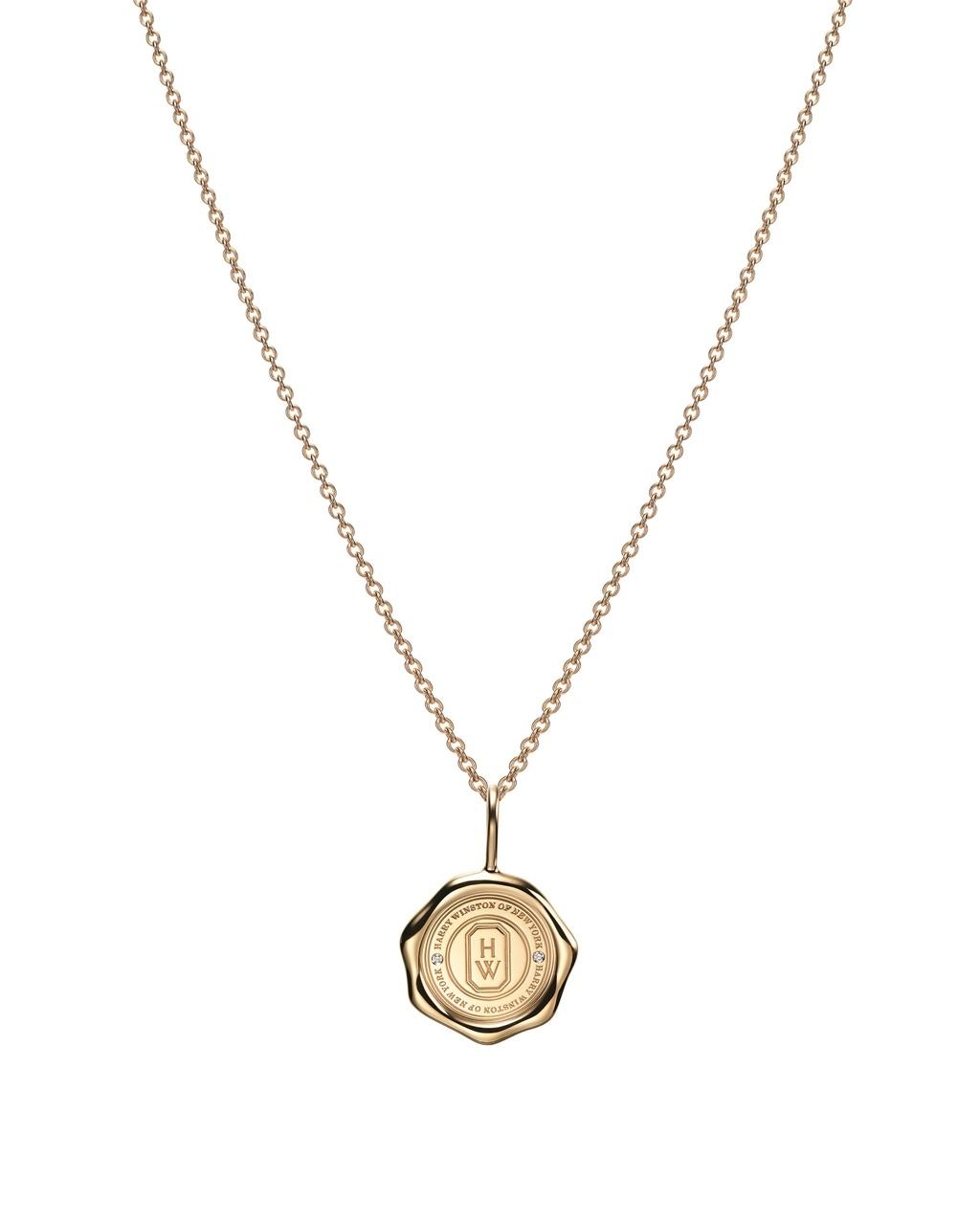 「シールド・バイ・ハリー・ウィンストン」18Kイエローゴールド×ダイヤモンド
