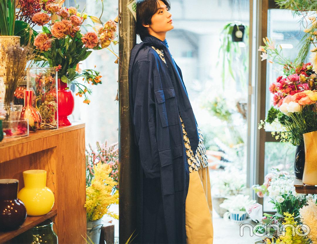 今月の彼氏。藤原大祐さんと花屋で待ち合わせ