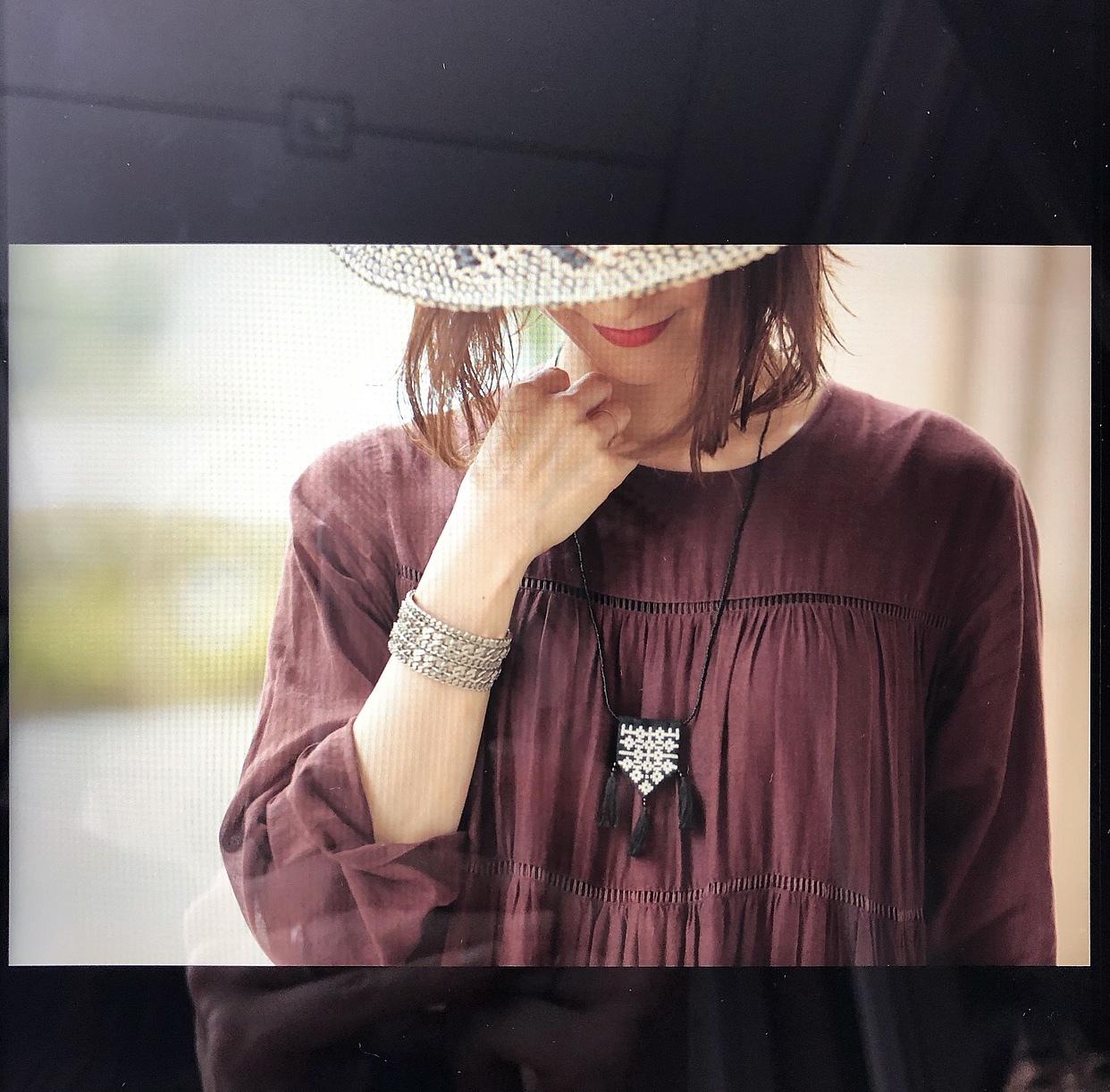 茶色ワンピ&エスニック小物◆誌面Snap_1_4