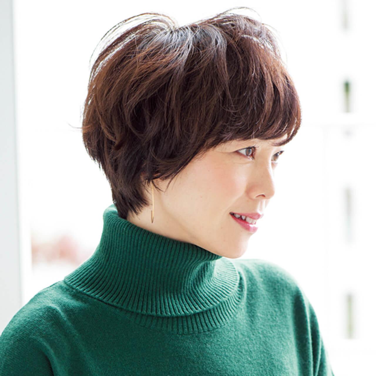 女っぷりのあがるマッシュショートヘア【40代のショートヘア】_1_2