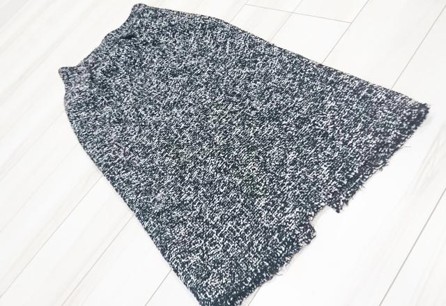 ZARAのツイードタイトスカートでモノトーン大人カジュアルコーデ_1_1