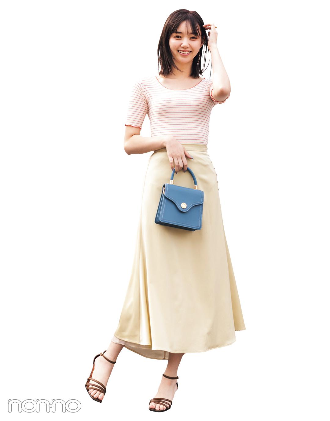 江野沢愛美が着るスタイルアップするJOURNAL STANDARD relumeのピタTシャツコーデ22