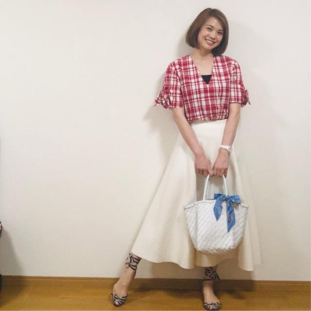 tops:maisonkitsune skirt:bluebirdboulevard