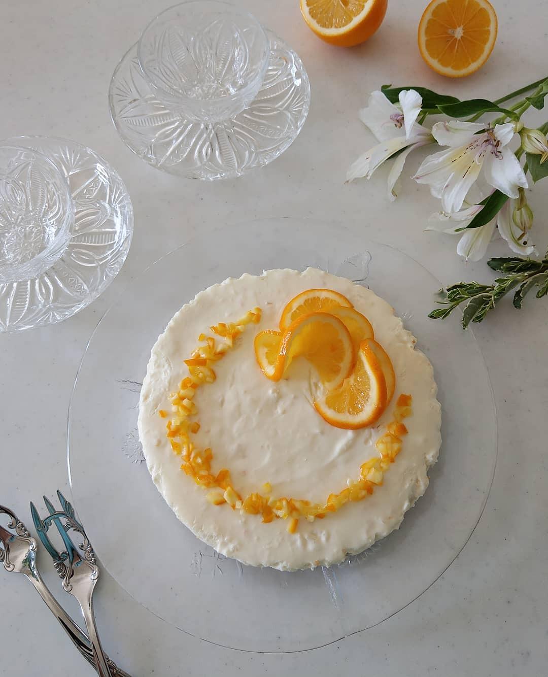 マイヤーレモンのレアチーズケーキ