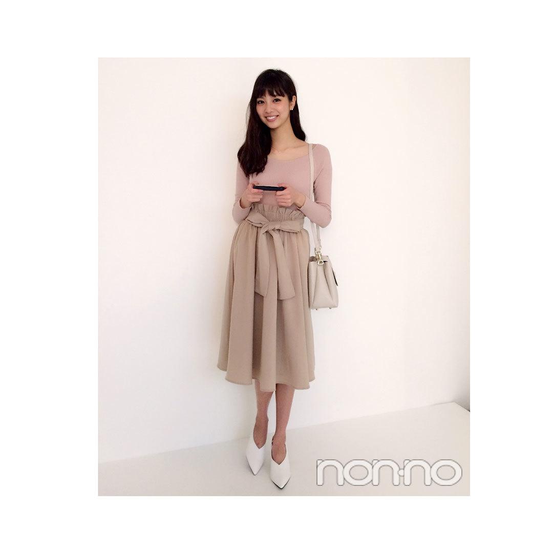 毎日コーデ★新川優愛のオフィスOKなトップスできちんとコーデ_1_1