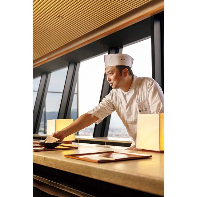 京都和久傳14年目の料理長の小川大輔さん。