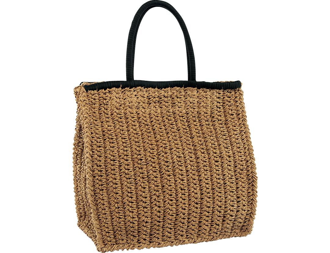 LAUGOAの夏素材カゴトートバッグ