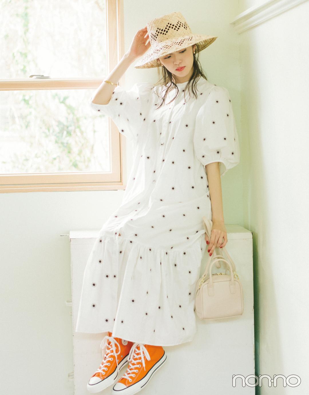 【おうち時間のおしゃれ】スカートは大人っぽく、ワンピはハズして楽しむ!_1_3